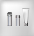 cosmetics containers packaging vector image vector image