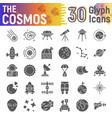 cosmos glyph icon set space symbols collection vector image