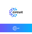 digital innovation circuit logo technological vector image