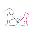 dog and cat minimalist vector image vector image