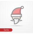 Festive face in new year hat icon vector image vector image