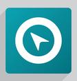 flat arrow pointer icon vector image