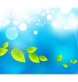 fresh nature background vector image vector image