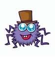 funny spider cartoon for t-shirt design vector image vector image