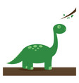 green dinosaur on white background vector image vector image