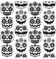 halloween and dia de los muertos skulls pattern vector image