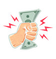 hand and money vector image
