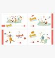 happy people enjoy summer outdoor activities vector image vector image