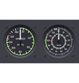 Helicopter airspeed indicators vector image vector image
