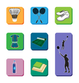 Icon Badminton set vector image vector image