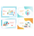 idea business innovations concept landing page vector image vector image