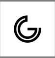 initial letter g mono line logo design vector image