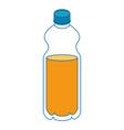 isolated orange bottle vector image vector image