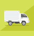 isolated side view small delivery truck cargo vector image vector image