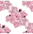 Japanese cherry Seamless Bouquet of pink sakura vector image vector image