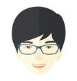 Joyful japanese boy vector image