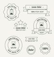 Label And Ribbon line style vector image vector image