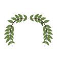 laurel wreath round and half laurel bottom vector image vector image