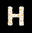 letter h made up airy popcorn vector image
