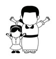 little girl and grandmother together family vector image