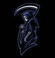 mascot dead grim reaper vector image vector image