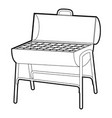 metal barbecue icon outline vector image