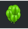 modern green balloons on black vector image vector image