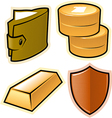 objects for money and security vector image vector image