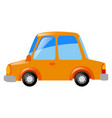 orange car on white background vector image vector image