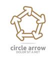 pentagon arrow brown design symbol icon vector image vector image