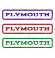 plymouth watermark stamp vector image vector image