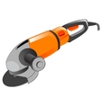 Polishing electric tool vector image vector image