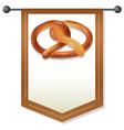 Pretzel banner vector image