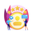 profile rating concept metaphor vector image vector image
