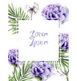 purple flowers and dandelion watercolor summer vector image vector image
