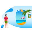 ready for vacation concept2 vector image