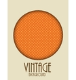Retro Vintage Background Template vector image vector image