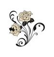 rose flower logo vector image vector image