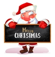 Santa looking out from the blackboard vector image