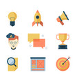 seo smm business icons brainstorming vector image vector image