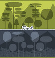 set of natural forest landscapes vector image vector image