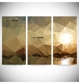 Set of vertical banners Mountains and sea vector image vector image