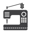 sewing machine solid icon household and appliance vector image