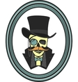 skull gentleman in the cylinder vector image vector image