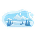 snowy mountains and forest flat vector image vector image