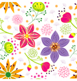 Spring Summer Colorful Flower Seamless Pattern