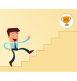 stairway to the success vector image vector image