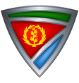 steel shield with flag eritrea vector image vector image