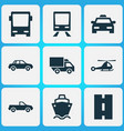 transport icons set collection of chopper vector image vector image