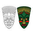 tribal african masks vector image